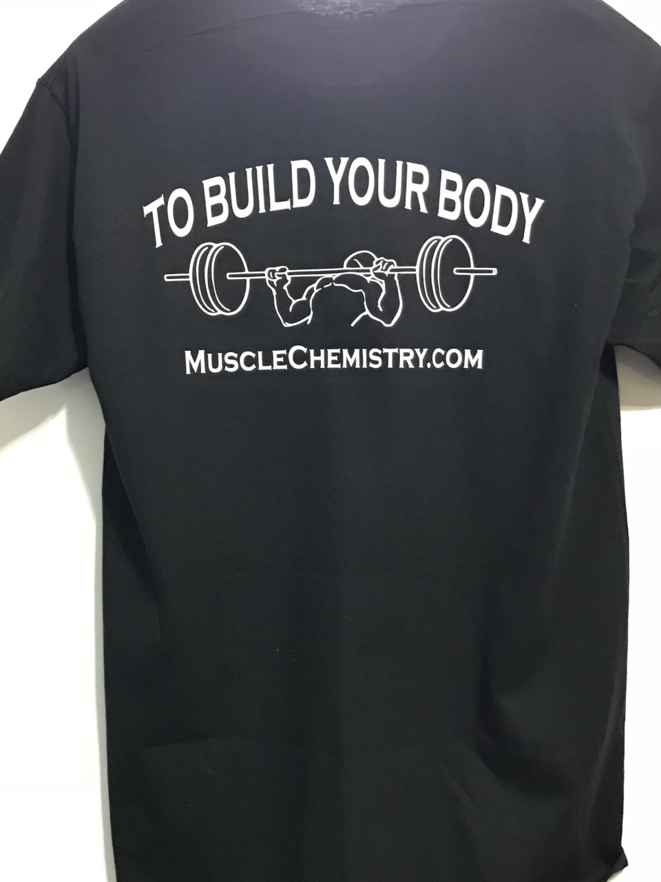 """Train Your Mind To Build Your Body"" T-shirt - Click Image to Close"